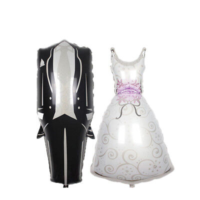 Foil Helium Balloon Bride Dress Groom Tuxedo Wedding Engagement Party Decoration - Engagment Party