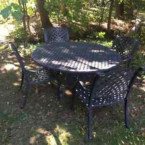 "60"" Diameter Wrought Iron Patio Set"