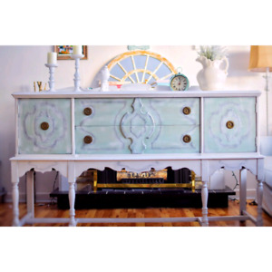 Antique Sideboard/buffet .  Solid gorgeous wood!!