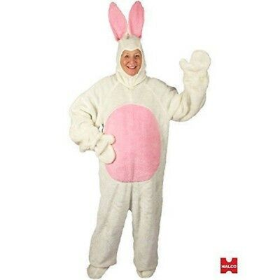 White Easter Bunny Suit Open Face Adult Mascot Costume - 3 - Bunny Mascot Suit