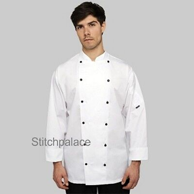 Le Chef Executive chefs jacket with black buttons long or short sleeve XXS-5XL Executive Chefs Jacket