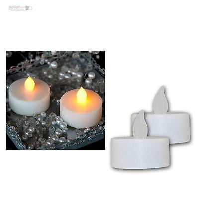 2 Set Led Lanterna Tremolante Tealight Elettrico Candela Candele Tealight