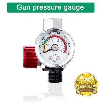 New Mini Air Pressure Regulator Gauge Spray Gun  1/4