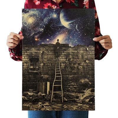Retro Vintage Milky Way Galaxy Matte Brown Paper Poster Home Decor 36 51 5Cm