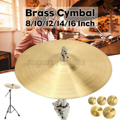 12/14/16inch Professional Brass Crash Cymbal Jazz Drum Kit Replacement  For Drum