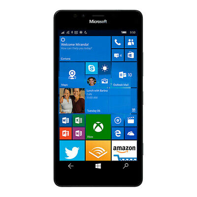 Microsoft Nokia Lumia 950 RM-1104 32GB Black Factory Unlocked Windows Smartphone