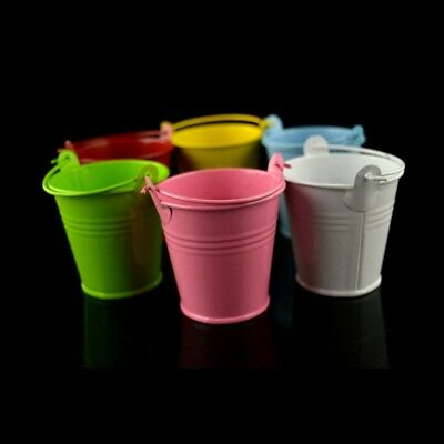 10 Pcs Metal Mini Buckets Candy Favours Pail Bucket Wedding Party Gifts 9 Colors - Colored Metal Buckets