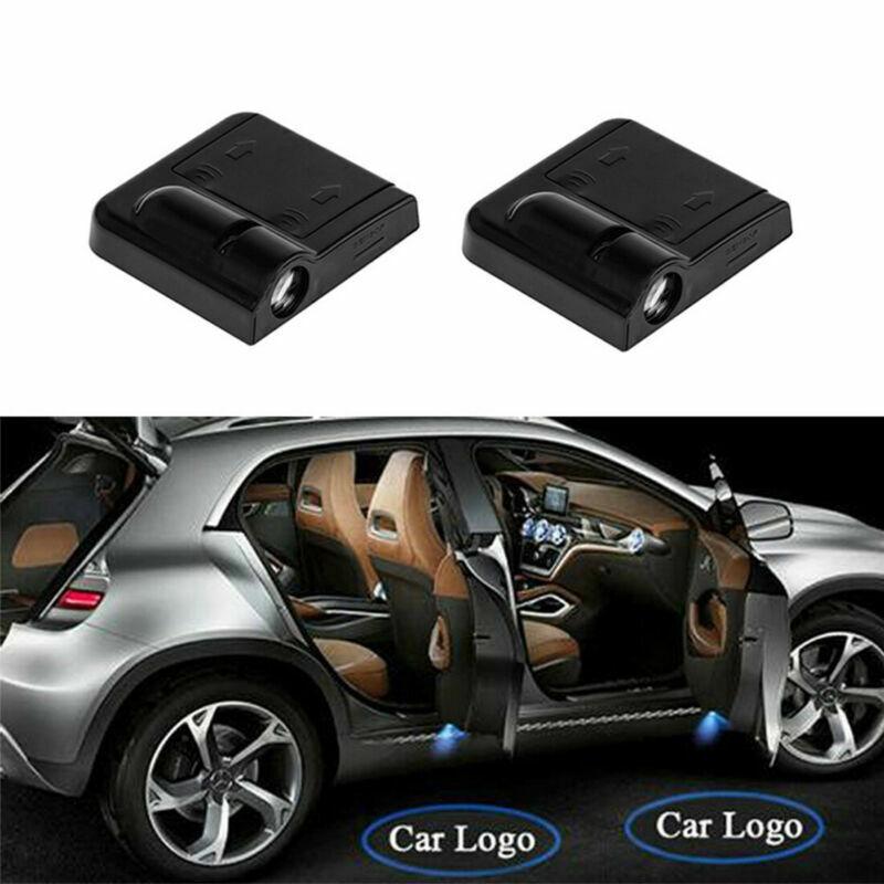 Car Parts - 2X Wireless LED Car Door Batman Shadow Projector Light Laser Logo Welcome Lamp