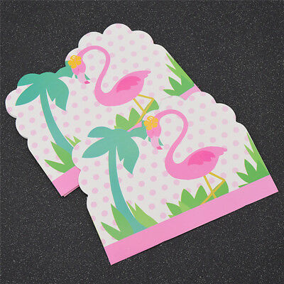 10 Pcs Flamingo Invitations Lovely Card for Party Birthday Wedding Decoration