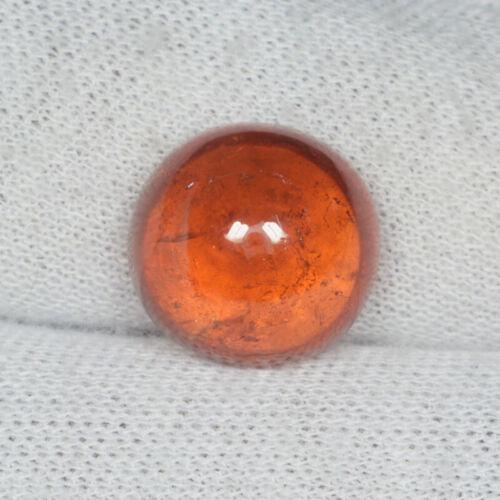 13.38 ct BEST ORANGE RED NATURAL SPESSARTITE GARNET Round Cabochon See Vdo 3213C