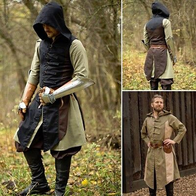Assasins Creed Kids Costume (Assasins Creed, Altair Hooded Vest, Tabbard, Ideal for Costume or LARP)