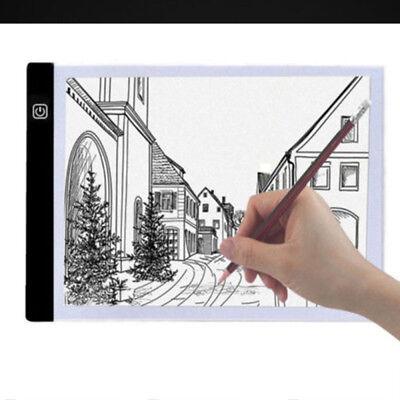 A4 LED Drawing Board Tracing Light Box Tattoo Art Stencil Slim Lightbox Pad 5V