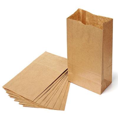 Brown Kraft Paper Bags Jewelry Candy Party Favors Gift Merchandising Grocery Bag