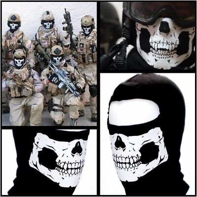 Scary Skeleton Skull Face Mask Balaclava Ghost Hood Skull Game Halloween Veil - Scary Halloween Skeleton