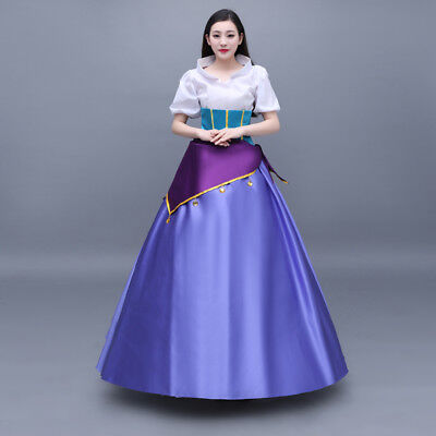 Original Esmeralda Cosplay Costume Dress Outfit Halloween Fancy Dress Any Size