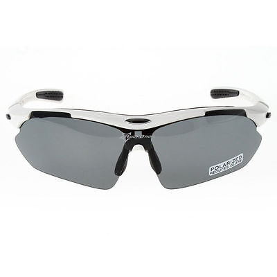 d82b28a13a9 Rockbros Polarized Cycling Glasses Sunglasses Goggles Sports Glasses White  New