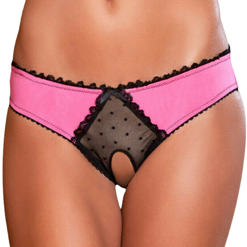 Women Sexy Lace Open Underwear Crothless Panties Knickers G-string Thong Briefs Clothing, Shoes & Accessories