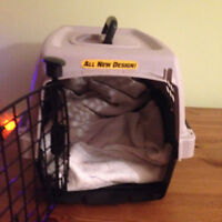 Small hard case animal carrier (plane friendly)
