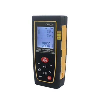 100m Handheld Ultrasonic Tape Measure Distance Meter Laser Pointer Range Finder