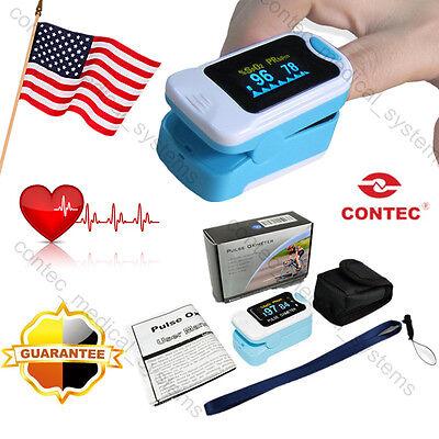 Usanew Fingertip Pulse Oximeter Oled Finger Blood Oxygen Spo2 Pr Monitorpouch
