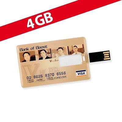 4 GB Speicherkarte in Scheckkartenform Bank of Boost VISA USB
