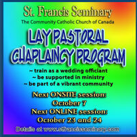 Lay Pastoral Chaplain training online and onsite - Oct sessions
