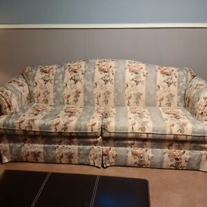 Pretty Couch Set and Solid table/Shelf