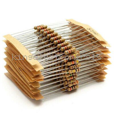 300pcs Assorted Resistors 12w 1ohm - 3m Ohm Watt Carbon Film Kit Set Pack