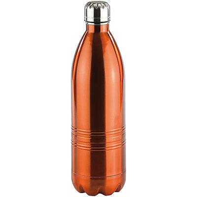 Rosenstein & Söhne Doppelwandige Vakuum-Isolierflasche aus Edelstahl, 1,0 Liter