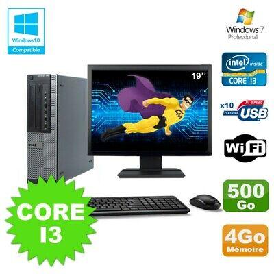 Lot PC Dell 790 DT I3-2120 3.3Ghz 4Go Disque 500Go DVD WIFI Win 7 + Ecran 19