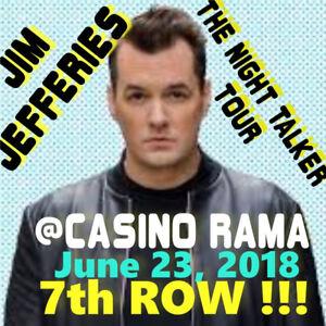 JIM JEFFERIES @CASINO RAMA! 7th ROW FLOORS TIX & MORE!