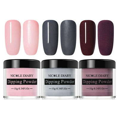 3 Boxes NICOLE DIARY Nail Art Dipping System Powder Dip Natural Dry Manicure DIY - Art Boxes