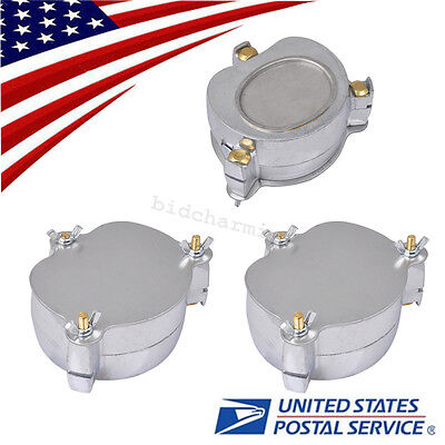 3pcs Dental Lab Aluminium Denture Flask Compressor Compress Equipment Parts Usa