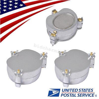 3pcs Dental Lab Aluminium Denture Flask Compressor Compress Equipment Parts Usa