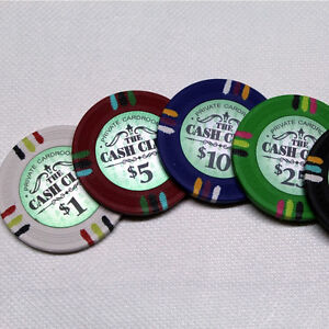 CASH CLUB POKER CHIP SET - CHIPS 1000 W/ CARRIER London Ontario image 3