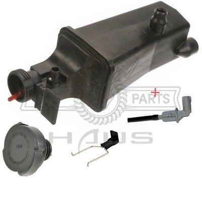 Coolant Reservoir Expansion Tank + Cap + Sensor + Clip Fit BMW E46 E53 E83