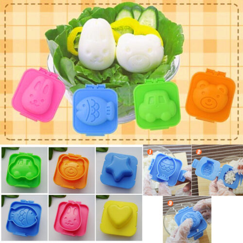 Cooking Tools 6Pcs/Set Boiled Egg Sushi Rice DIY Molds Bento Maker Mould Deco IF