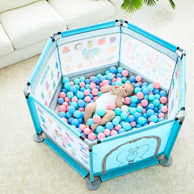 Safe Baby Playpen Portable Play Yard Indoor Outdoor Ball Pit Baby Play Fence New