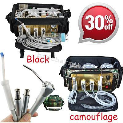 Portable Dental Unit With Air Compressor Suctiondrainage System 3 Way Syringe