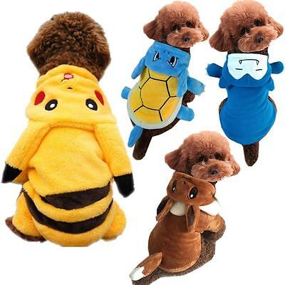 Pet Dog Cat Clothes Costume Pikachu Snorlax Hooded Outfit - Dog Pikachu Costume