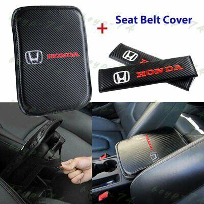 For New HONDA Racing Car Center Console Armrest Cushion Mat Pad Cover Combo Set