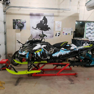 Sled, bike, SxS wrap install and sled mods.