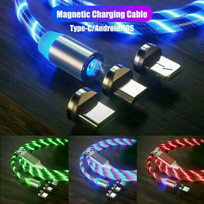 MAGNETIC LED Flowing Light up Charge Cable for iPhone / Samsung / Mobile Phone
