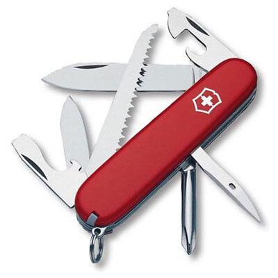 Victorinox Swiss Army 91mm/3.58in Hiker Pocket Knife, Red
