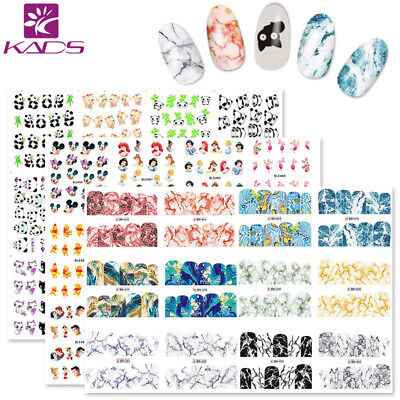 KADS Nail Art Stickers Water Transfer Decals Set Cartoon Marble Panda Designs ()