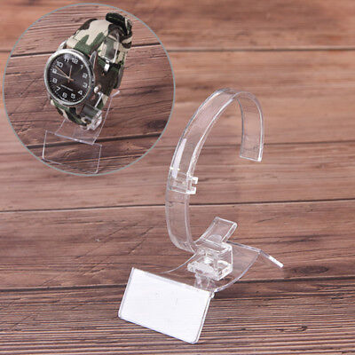Clear Plastic Jewelry Bangle Bracelet Watch Display Stand Hold Watch Holder Gp2