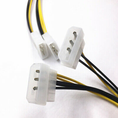8-Pin To Dual 4-Pin Video Card Power Cord Cable Wire Adapter Connector Accessory - 8 Pin Wire