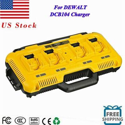 4 Ports 12/20V DCB104 DCB200 Multi battery Charger For Dewalt Lithium Battery
