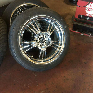 "18"" set of chrome rims and tires Windsor Region Ontario image 2"