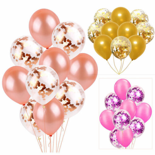 "10pcs 12"" Confetti Latex Balloons Wedding Birthday Party Baby Shower Decoration"